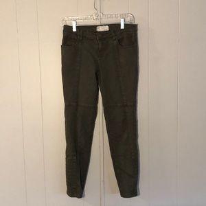 Free People Olive Army Green Skinny Pants. 27.